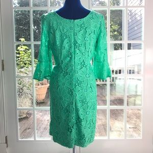 Sandra Darren Dresses - Lace Sandra Darren Dress in Kelly Green